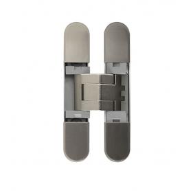 Cerniera Invisibile Regolabile 3D 76x14 mm, mod. 929 Nichelata