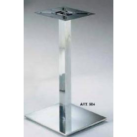 Basamento in acciaio diametro 400x400 mm h 730x60x60 mm cromo lucido