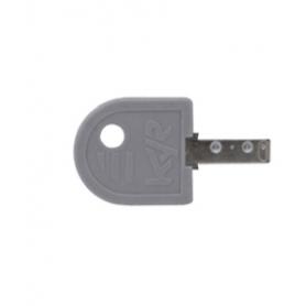 Impugnatura chiave polietilene grigio