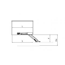 Barra PEGASO sezionabile per vano max 2500 mm