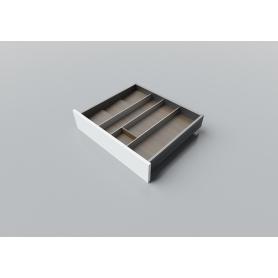 Portaposate in Noce alluminio L. 55-60 cm P. 50 cm