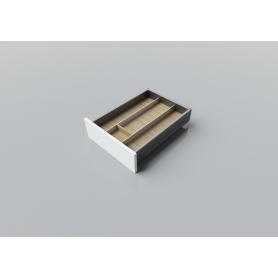 Portaposate in Rovere alluminio L. 40-55 cm P. 50 cm