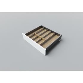 Porta posate in Rovere alluminio L. 55-65 cm P. 50 cm