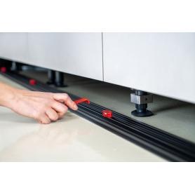 BLINK02 - Kit Blink aggancio magnetico per zoccolo in ALLUMINIO/PLASTICA