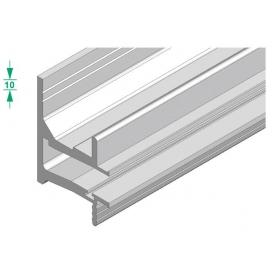 Profilo Linear vetro 10 mm.  argento in barra 3000 mm