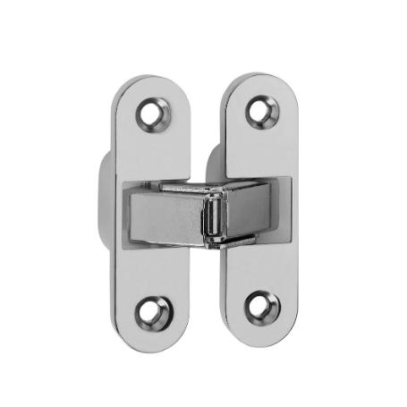 Cerniera invisibile acciaio nichelato  89x25 mm.