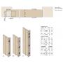 Cerniera invisibile acciaio bronzato 89x25 mm.
