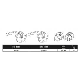 Kit scorribase standard 639/655 mm. 40 Kg. nichelato