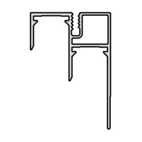 Binario inferiore GLOW fissaggio viti 4000 mm.