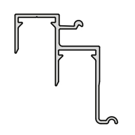 Binario inferiore fissaggio klik 3100 mm.