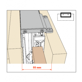 kit giunzione singola per fianco EXEDRA prof 400-650 mm