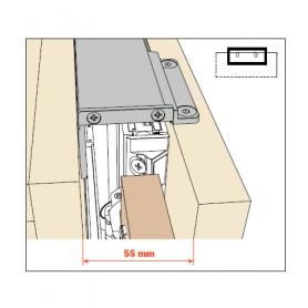 kit giunzione singola per fianco EXEDRA prof 650-900 mm