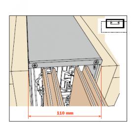 kit giunzione doppia per fianco EXEDRA prof 400-650 mm