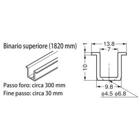 Binario superiore mm.1820 FD30-HBR1820SL