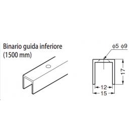 Binario superiore mm.1820 FD30-HBRT1500SIL