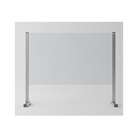 """Barriera di Protezione in vetro/alluminio """"SIKURA SL"""" per Contenimento Batterico 80x67x30 cm - Covid19"""