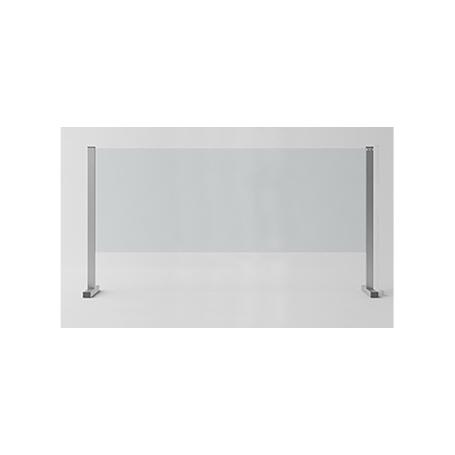 """Barriera di Protezione in vetro/alluminio """"SIKURA SL"""" per Contenimento Batterico 120x67x30 cm - Covid19"""