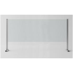 """Barriera di Protezione in vetro/alluminio """"SIKURA SL"""" per Contenimento Batterico 140x87x30 cm - Covid19"""