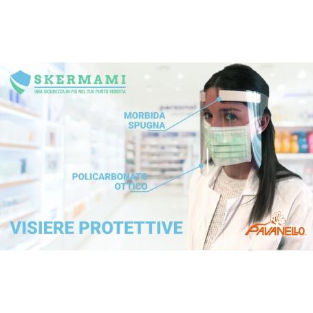 "Visiera Protettiva ""SKERMAMI"" regolabile in policarbonato ottico - Covid19"
