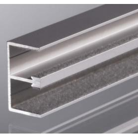 Binario superiore anta vetro 605.020.110 mm. 3000 argento