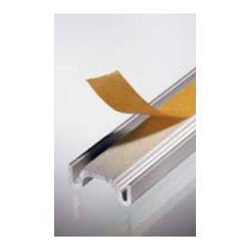 Binario inferiore anta vetro argento mm.5000