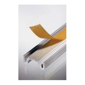 Binario inferiore anta vetro mm. 3000 argento