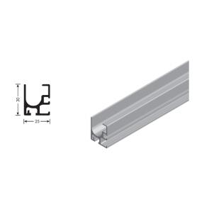 Binario superiore per scala scorrevole alluminio anodizzato 6100 mm.