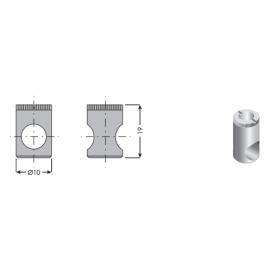 Barilotto in zama d. 10 x 19 mm.