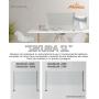Barriera di Protezione ad angolo 90° in vetro/alluminio per Contenimento Batterico 90x90x30 cm - Covid19