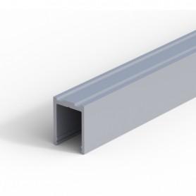 Profilo per anta fissa a soffitto alluminio anodizzato 3000 mm.