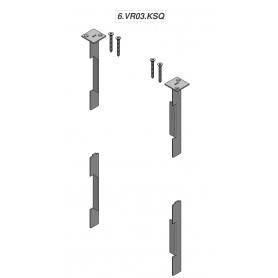 """Kit 4 pezzi Squadrette e tappo """"SKUDO GLASS 6"""" per Schermi Trasparenti Parafiato - Covid19"""