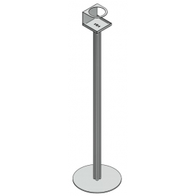 Piantana porta Dispenser H. 1000 mm - Covid19