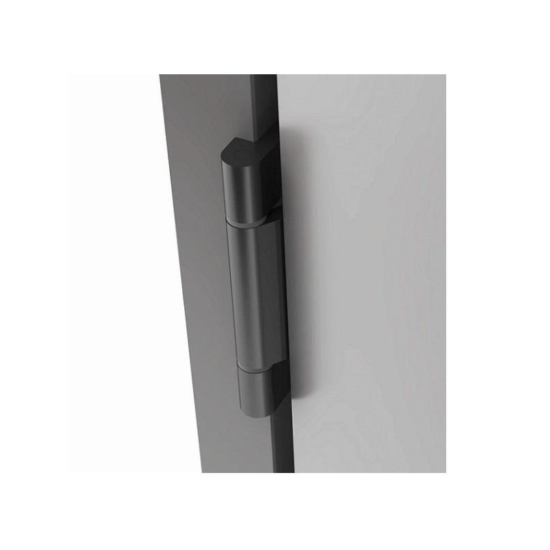 Cerniera EASY per anta vetro/legno spessore 8-10 mm nero opaco