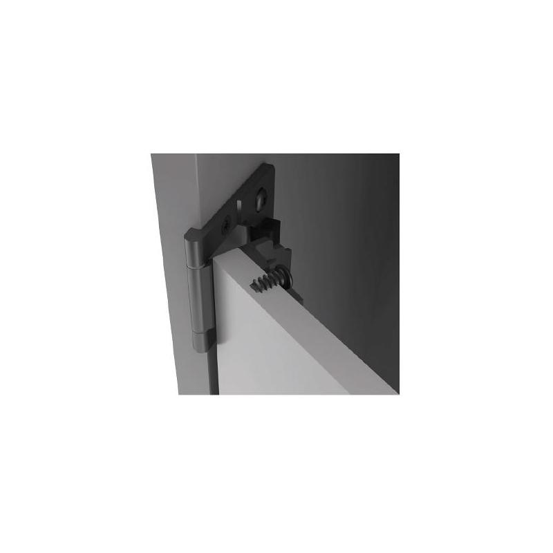 Cerniera per anta vetro/legno spessore 14-16 mm. nero opaco