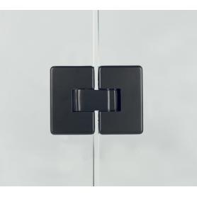 Cerniera per porte in vetro 180° nero opaco apertura 0-180°