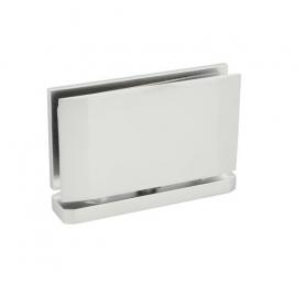 Cerniera per ante in vetro nichel satinato spessore vetro 8-10 mm apertura 180°