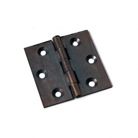 Cerniera a libro piana in ottone bronzato 60x50 mm.