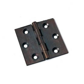 Cerniera a libro piana in ottone bronzato 30x25 mm.
