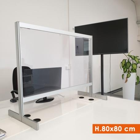 Parete Divisoria H.80x80 cm protettiva Trasparente Autoportante - Covid19