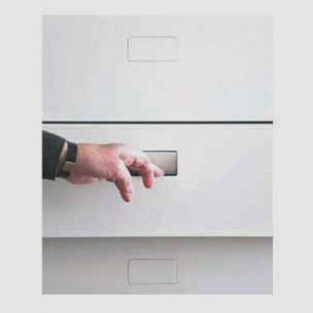 B-NO-HA Double: Sistema di maniglia a scomparsa per porte scorrevoli min. 48 mm, max 50 mm