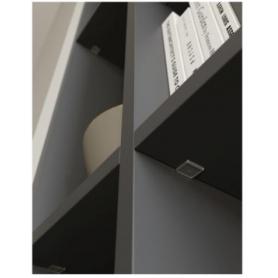 Reggipiano KALIPSO SL 18/19 c/perno d. 5 mm nichelato nero/antracite