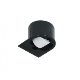 Ruota fissa H. 2 mm nera da incasso