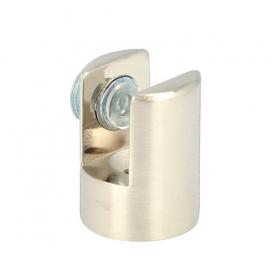 Reggivetro MORSETTO spessore vetro 6/10 mm. nichel satinato diametro 20x26 mm.