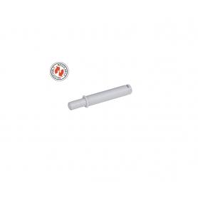 Cricchetto a scatto da incasso con paracolpo regolabile 14 mm. bianco