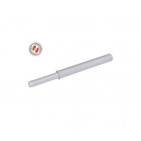 Cricchetto a scatto da incasso con paracolpo regolabile 37 mm. bianco