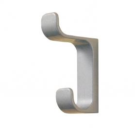 Portabito in metallo verniciato argento