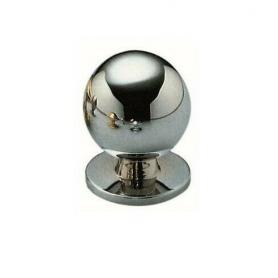 Pomolo a sfera d.20 in ottone cromo lucido