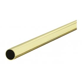 Tubo tondo diametro 25x1,2x3000 mm. ottonato