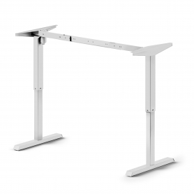 Tavolo Motorizzato Regolabile in altezza, acciaio, Bianco