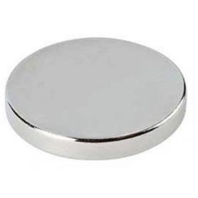 Pastiglia magnetica diametro 10 mm. per spessore 5 mm. nichel